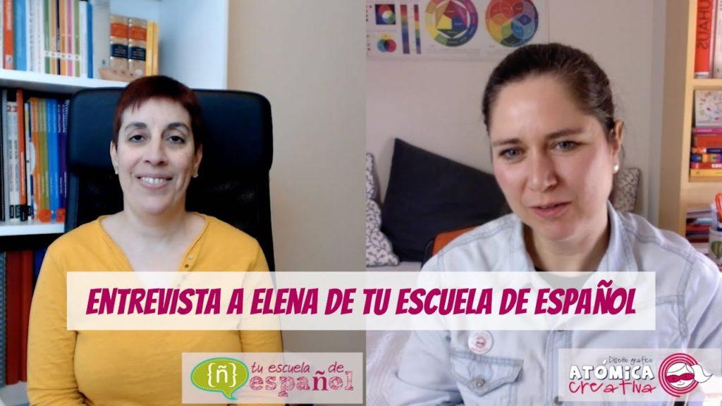 Entrevista a Elena, de Tu escuela de español. La entrevista también la podéis ver en mi canal de Youtube