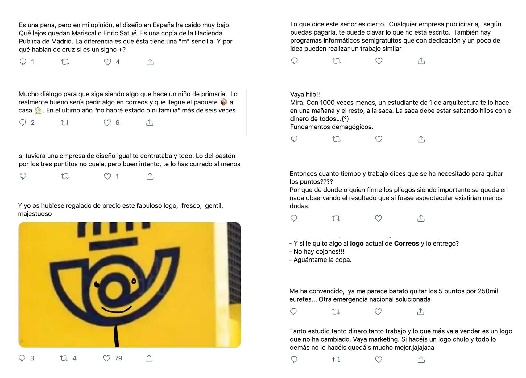 Opiniones sobre el logo de Correos