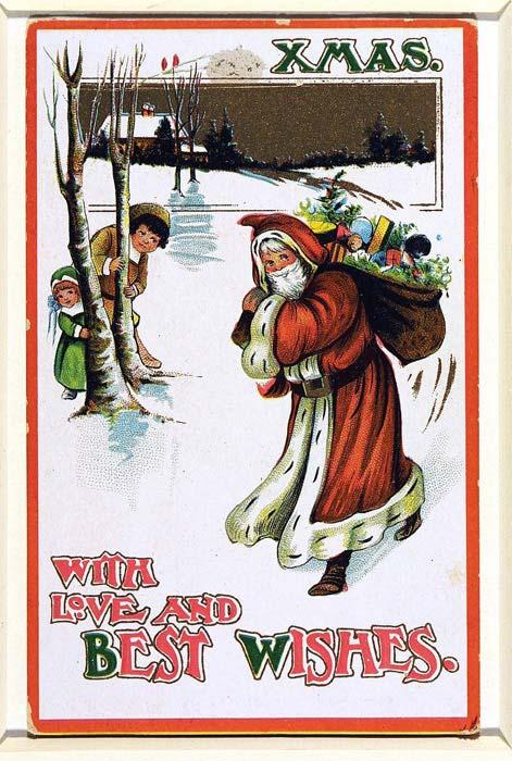 Postales de Navidad de la época victoriana, Santa Claus