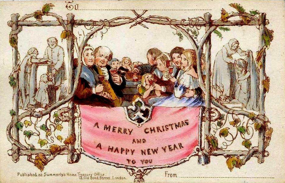 La primera postal de Navidad que se vendió.