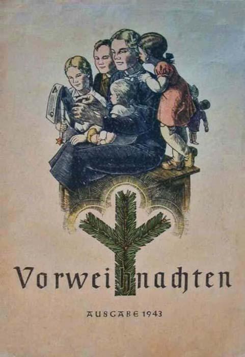 Postales de Navidad, II Guerra Mundial, familia nazi