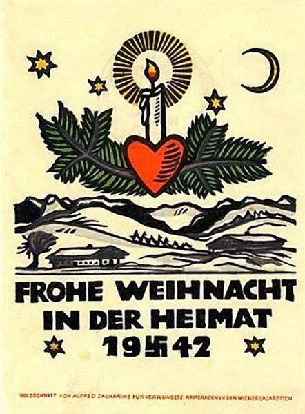 Postales de Navidad, II Guerra Mundial, felicitación de 1942