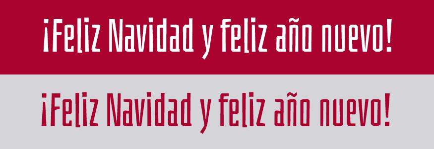 Postales de Navidad, tipografía: Bahianita Regular