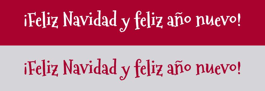 Postales de Navidad, tipografía: Mountains of Christmas