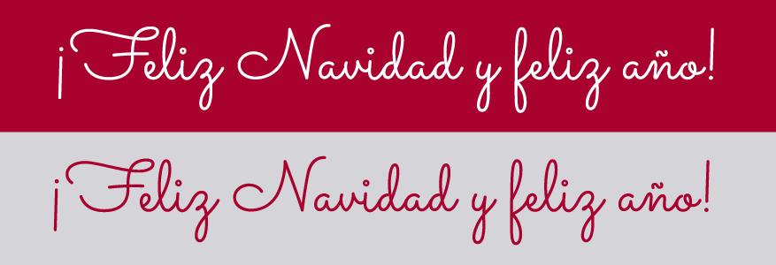 Postales de Navidad, tipografía: Sacramento